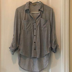 Juniors Pinstripe blouse